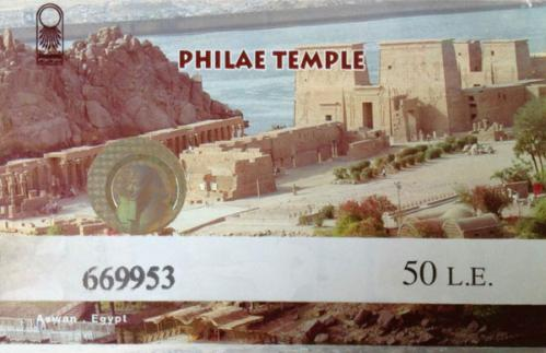 Ticket d'entrée du Temple d'Isis