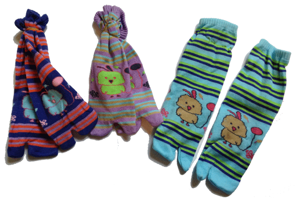 Chaussettes Cambodgiennes pour tongs !