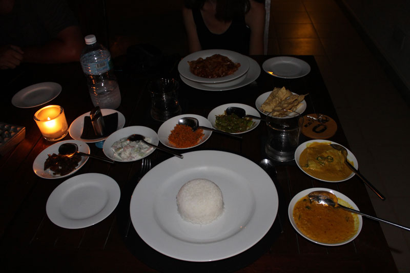 Colombo - Lake Lodge Restaurant - Curry sri-lankais traditionnel