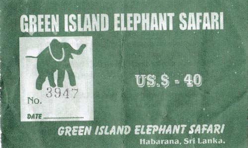Ticket Balade à dos d'éléphants