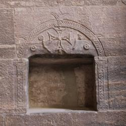 Temple d'Isis - Salle hypostyle - Niche copte