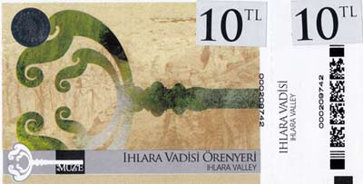 Vallee d'Ihlara - Ticket d'entrée